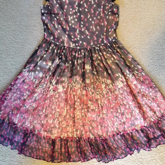Red Valentino Silk Bunny Print Dress - Size 40
